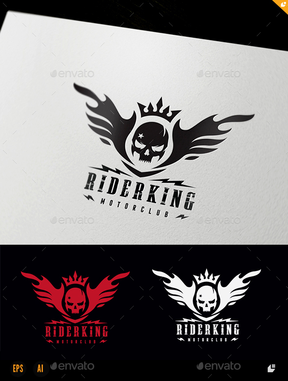 Rider King - Crests Logo Templates