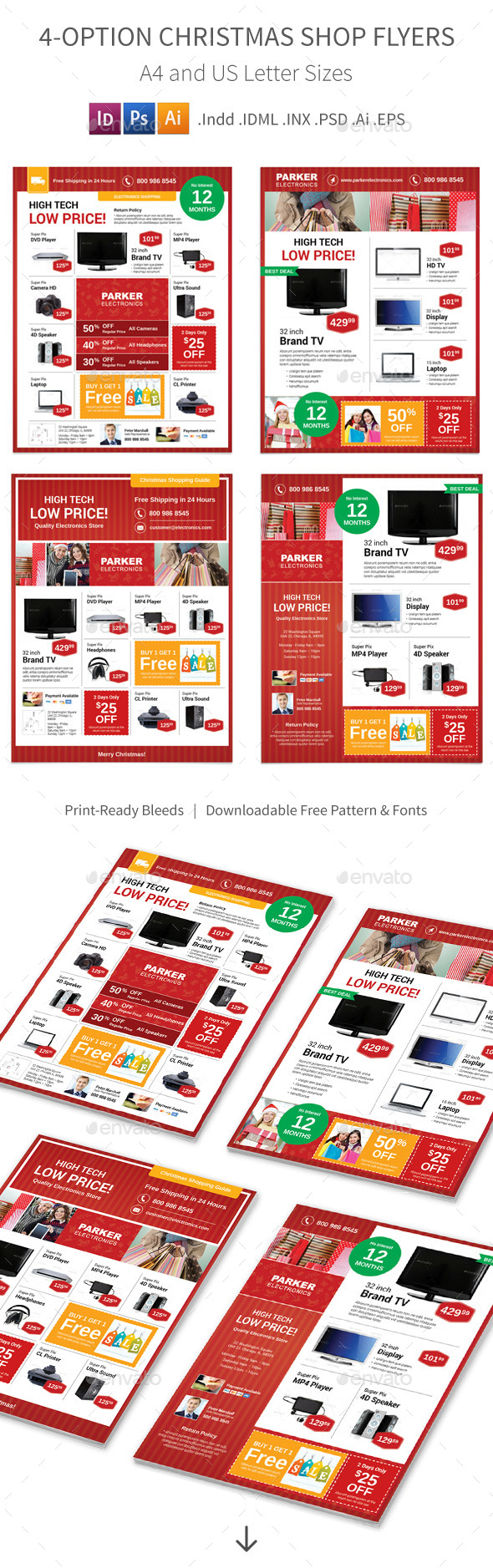 Christmas Shop Flyers – 4 Options - Corporate Flyers
