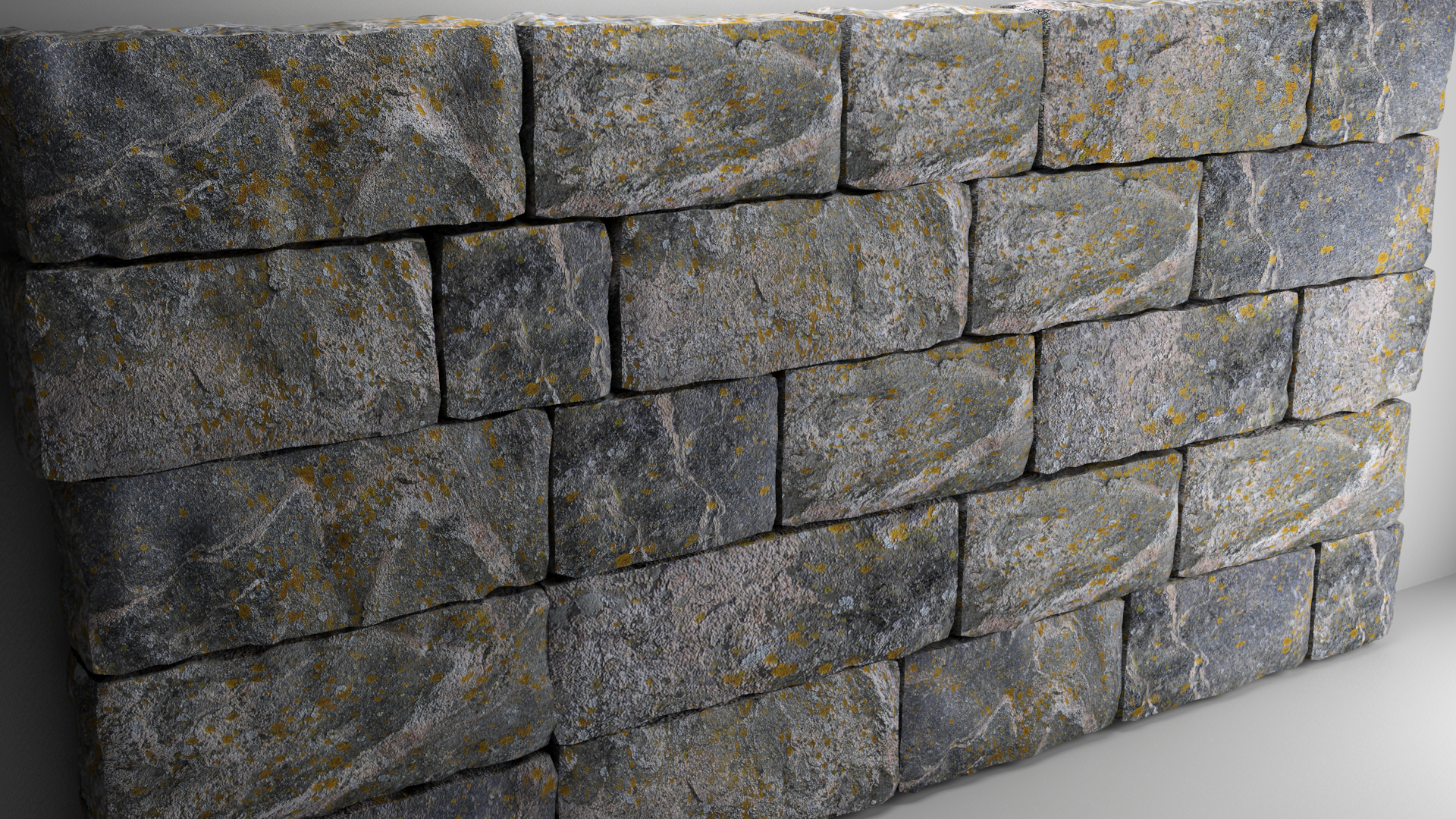 High Poly Natural Stone Wall By Cpalmroos 3docean