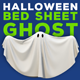 Halloween Bed Sheet Ghost Logo Reveal - VideoHive Item for Sale