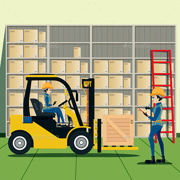 Warehouse - Objects Vectors