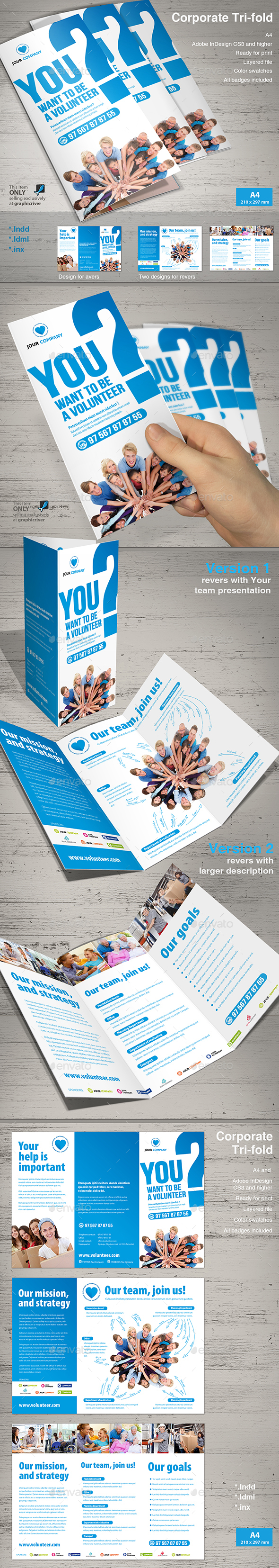 Tri-Fold Volunteer - Informational Brochures