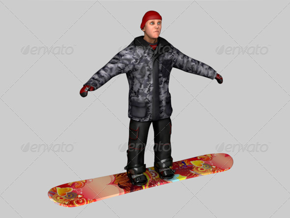 Snowboarder - 3DOcean Item for Sale