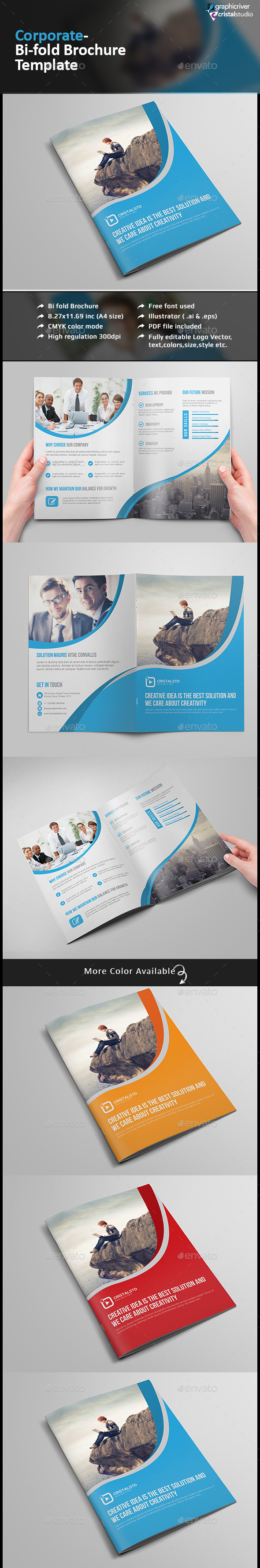 Corporate Bi-fold Brochure-Multipurpose - Corporate Brochures