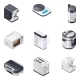 Household Appliances Detailed Isometric Icons Set - GraphicRiver Item for Sale