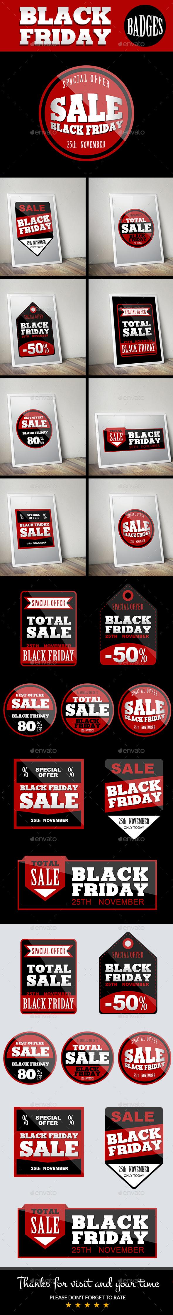 Black Friday Badges - Badges & Stickers Web Elements