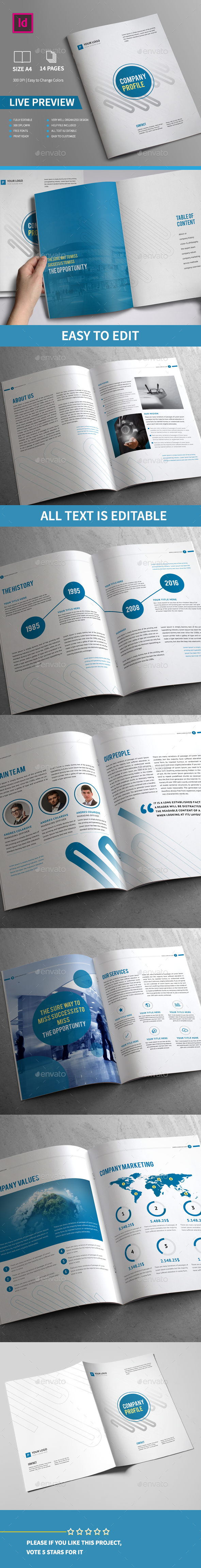 Company Profile Brochure 14 Pages A4 - Corporate Brochures