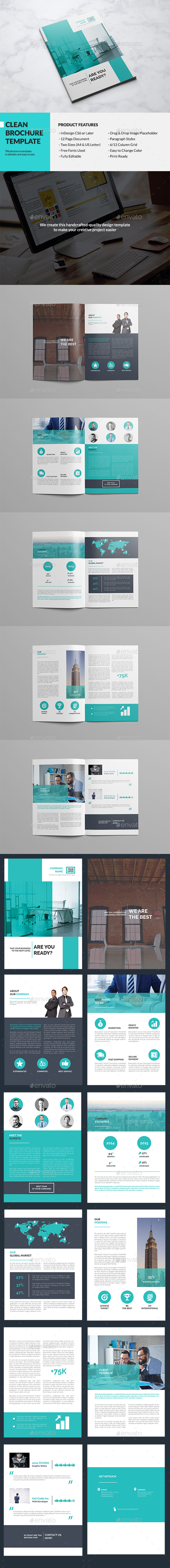 Clean Multipurpose Brochure - Brochures Print Templates