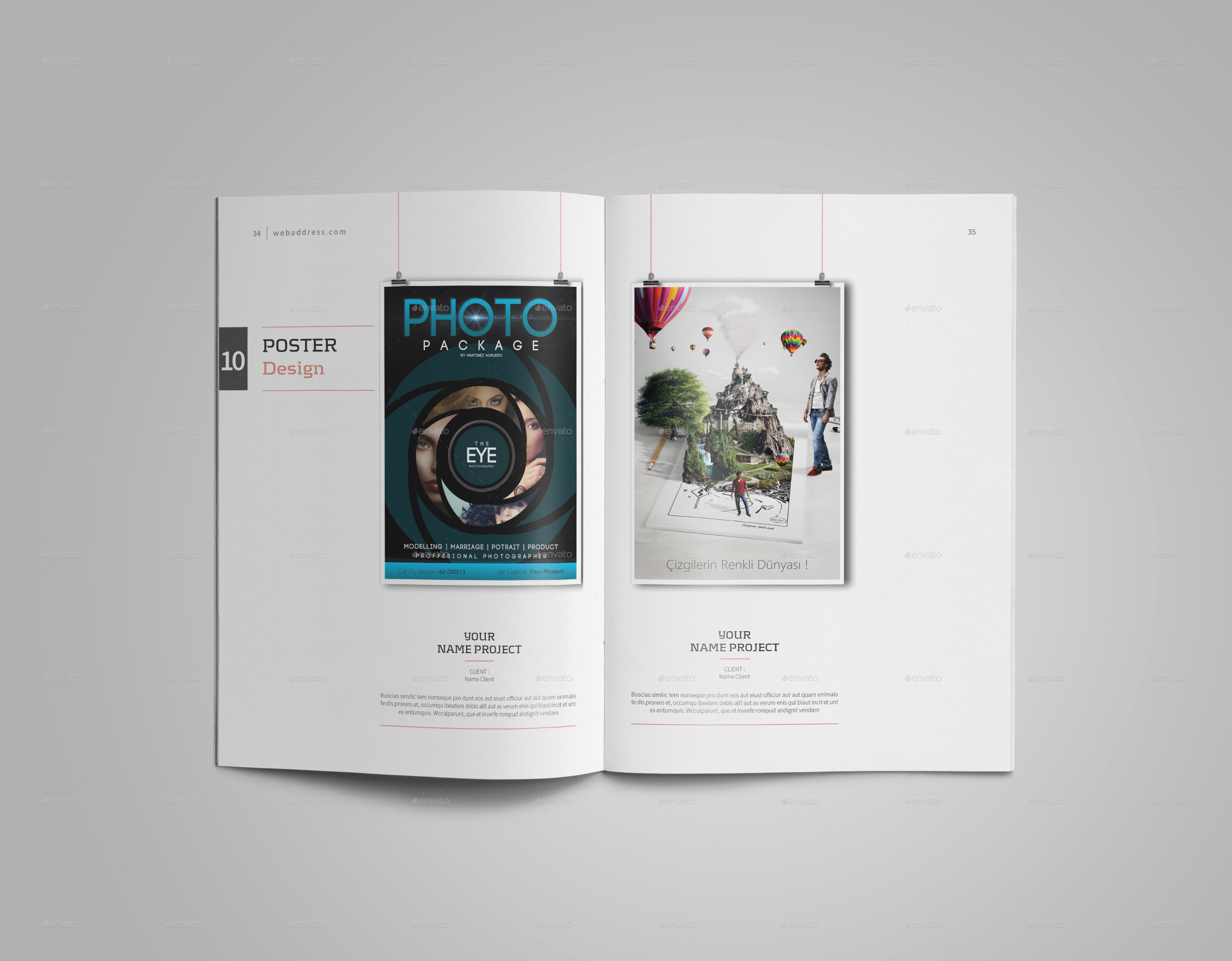 graphic design pdf portfolio templates