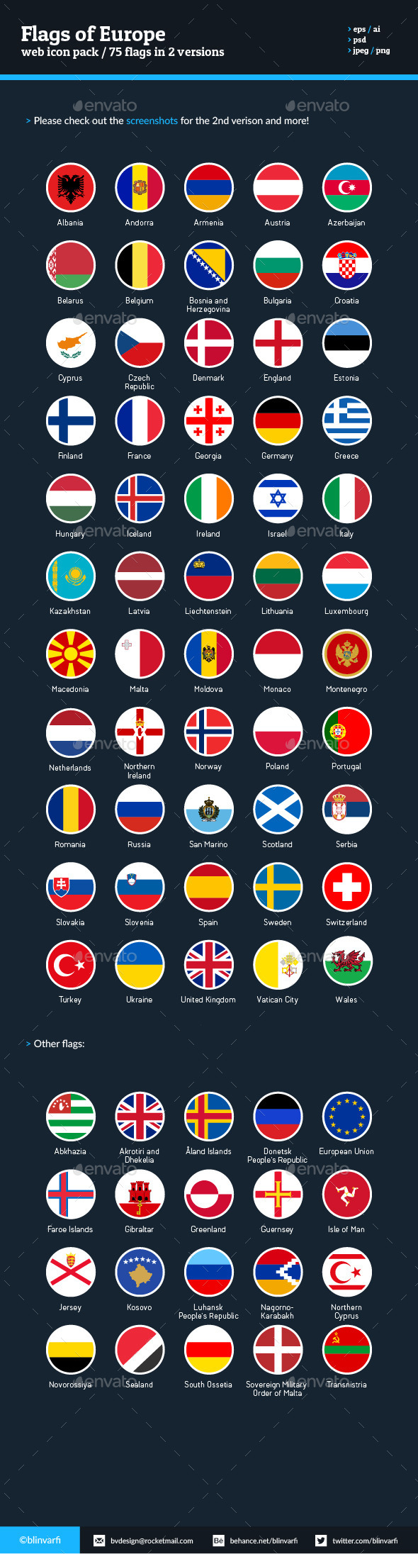 Flags of Europe - Flag Icons - Web Icons