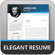 Elegant Resume - GraphicRiver Item for Sale