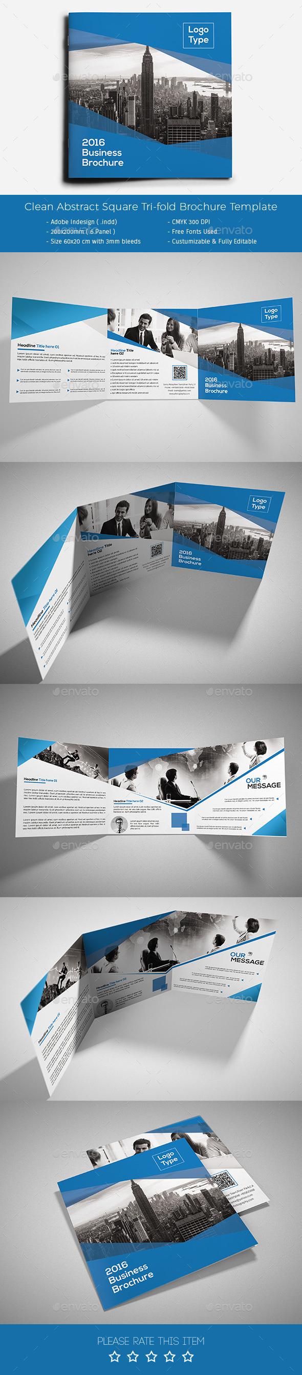 Corporate Tri-fold Square Brochure 10 - Corporate Brochures