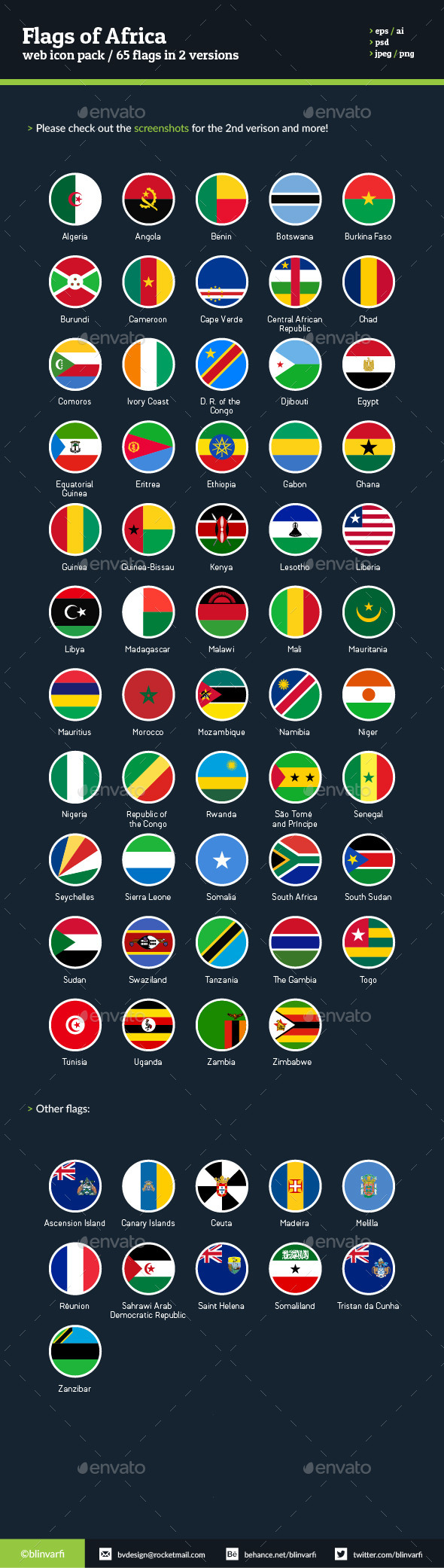 Flags of Africa - Flag Icons - Web Icons