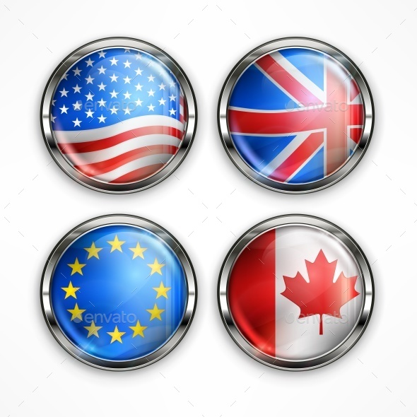Flag Round Icons - Miscellaneous Vectors