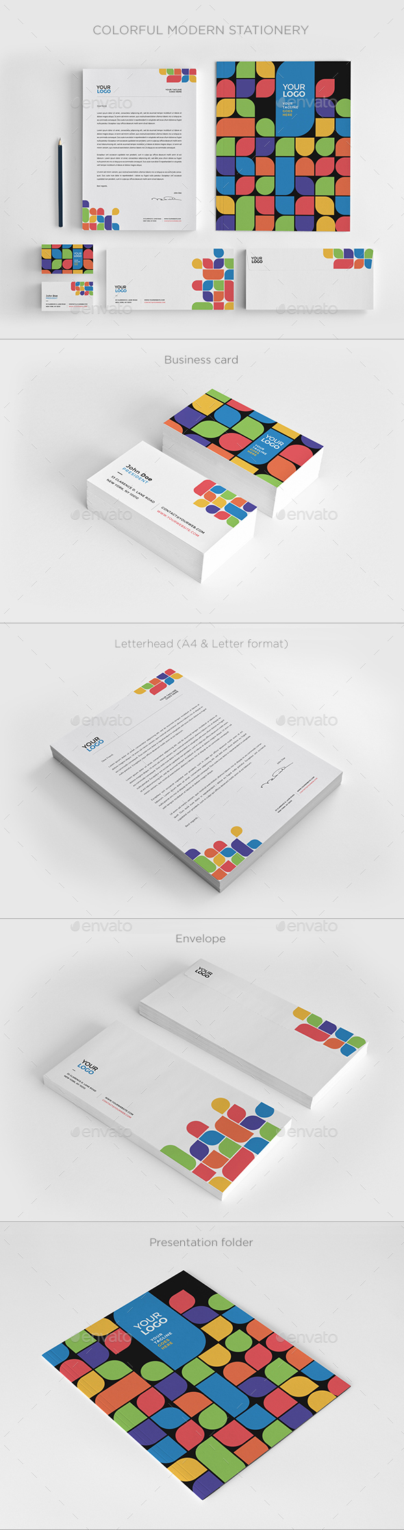 Colorful Modern Stationery - Stationery Print Templates
