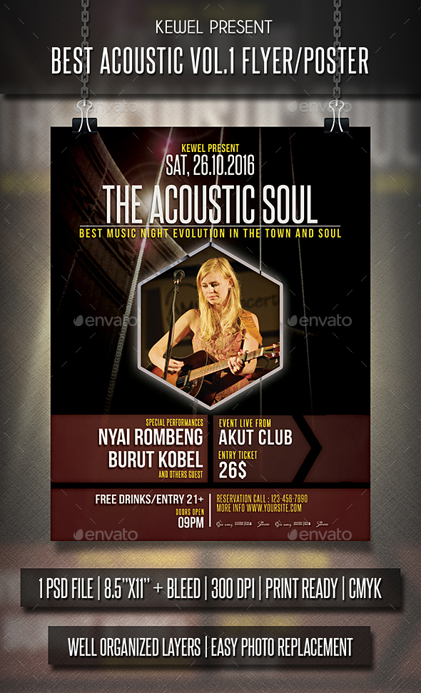 Acoustic Flyer / Poster Vol.01 - Events Flyers