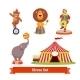 Circus Animals, Bear, Lion, Elephant, Clown - GraphicRiver Item for Sale
