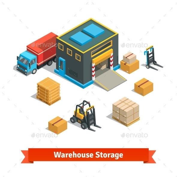 Wholesale Warehouse Storage Building With Forklift - Industries Business