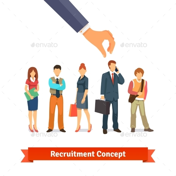 Recruitment And Human Resources Concept - Concepts Business
