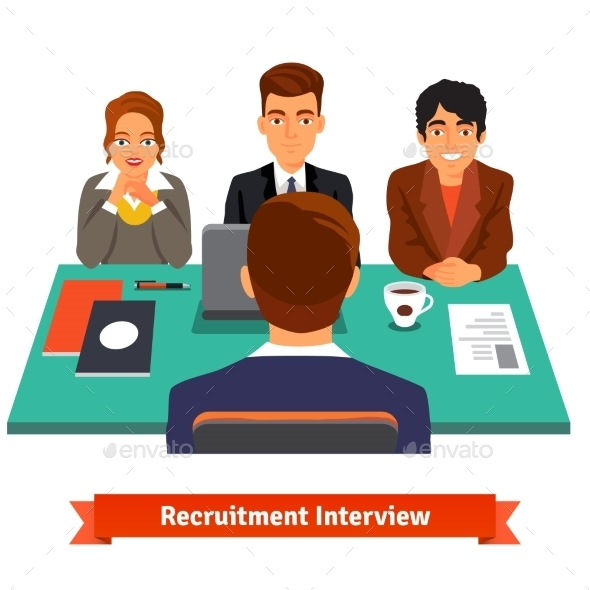 Man Having a Job Interview With HR Specialists - People Characters