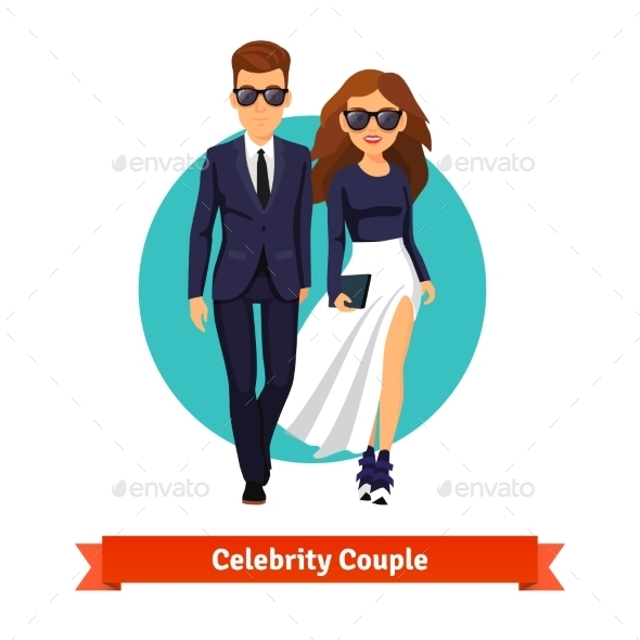 Man And Woman Stylish Hollywood Stars - People Characters