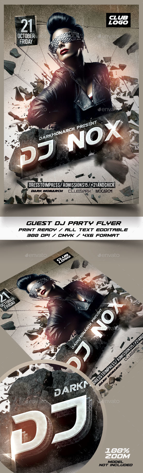 Dj Nox Guest Flyer Template - Events Flyers