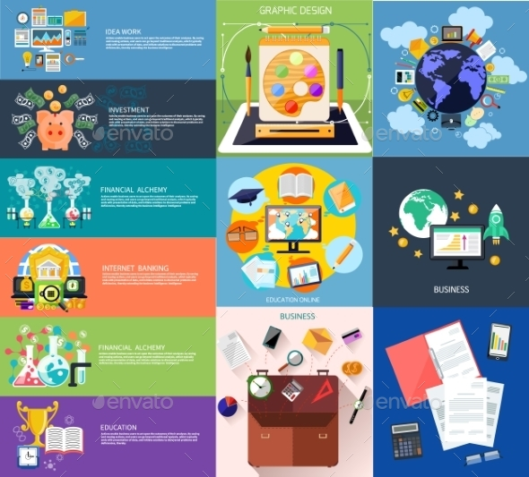 Set Of Business Banners - Concepts Business