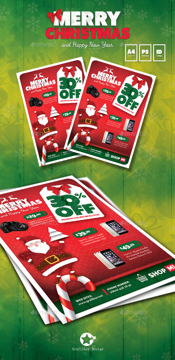 Christmas Product Flyer Templates - Corporate Flyers