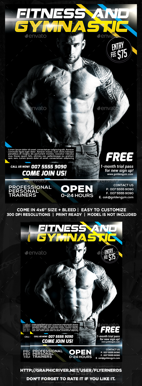 Fitness and Gymnastic Sports Flyer - Sports Events