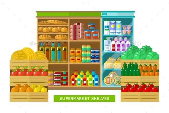 Shop, Supermarket Interior - Retail Commercial / Shopping
