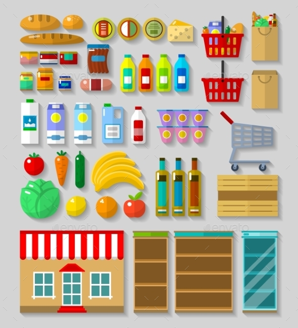 Shop, Supermarket Set - Retail Commercial / Shopping