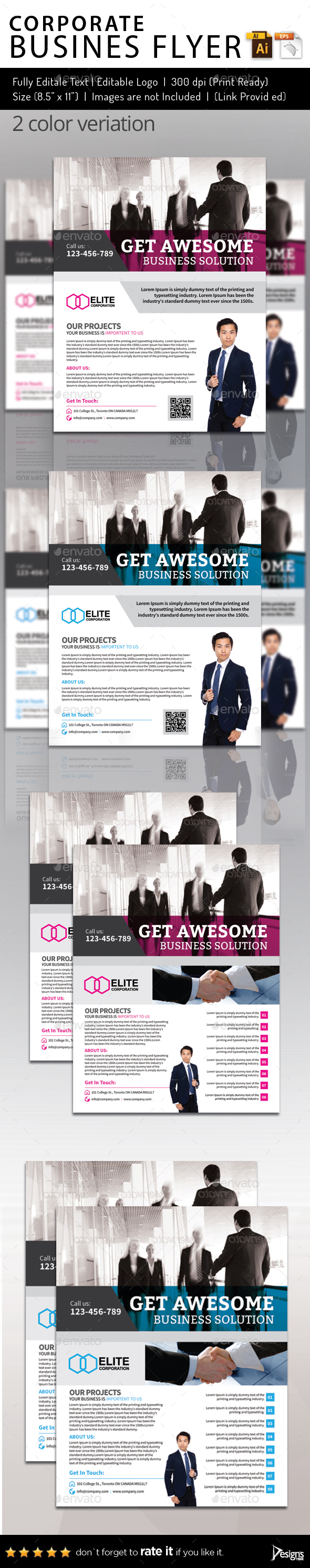 Multipurpose Business Flyer 82 - Flyers Print Templates