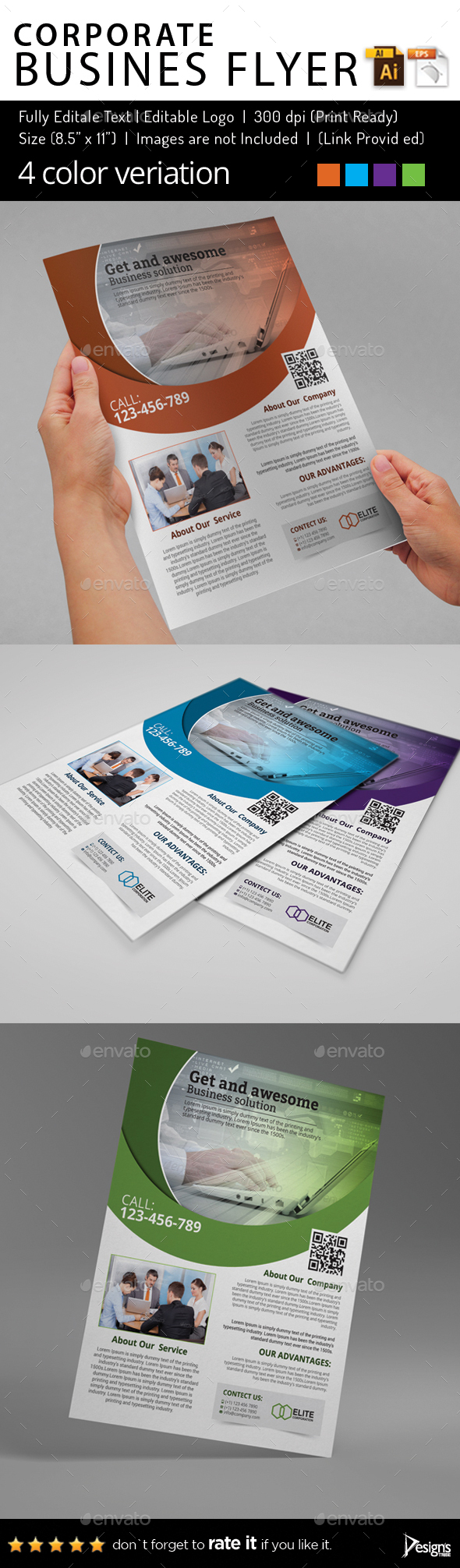 Multipurpose Business Flyer 83 - Flyers Print Templates