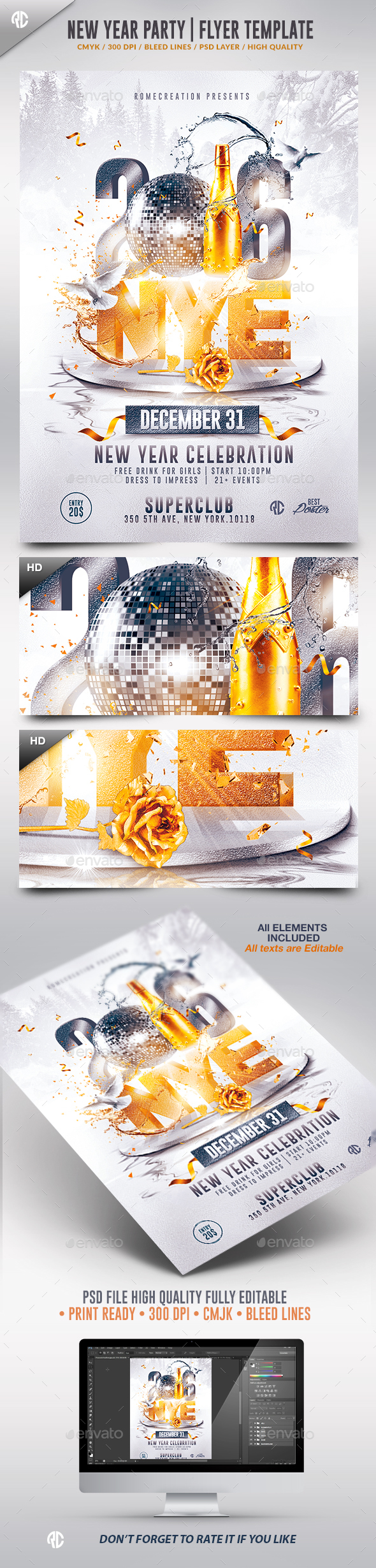 New Year  2016 | Nye Flyer Template - Events Flyers