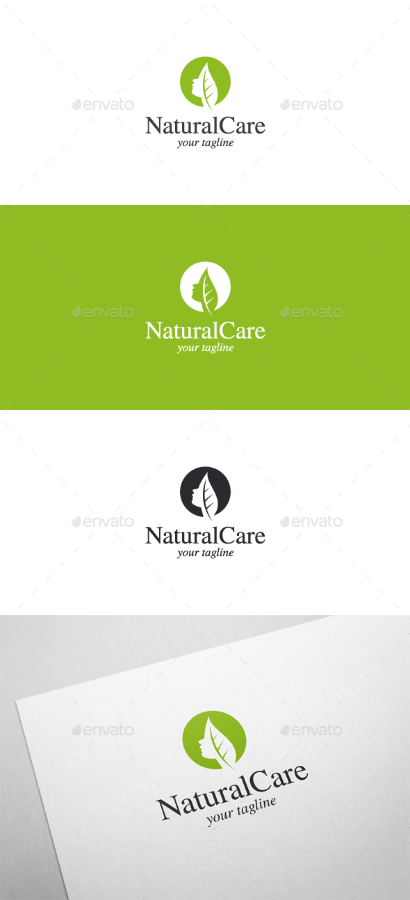Natural Care - Beauty Salon Logo - Nature Logo Templates