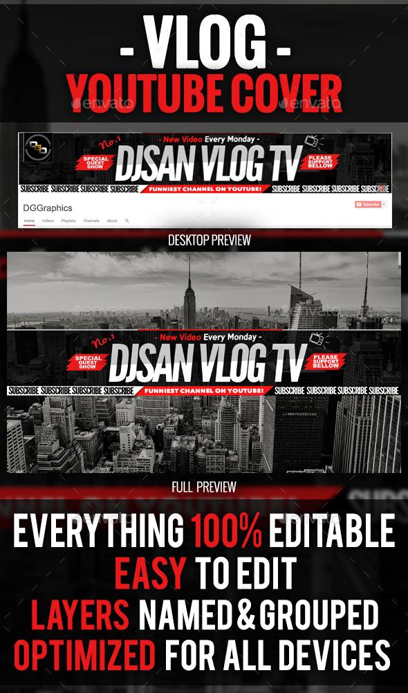 Vlog YouTube Cover - YouTube Social Media