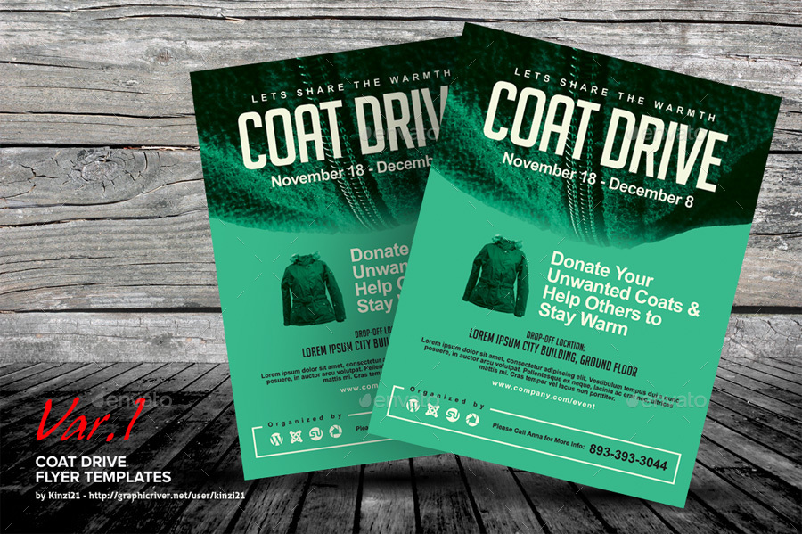 Coat Drive Flyer Templates By Kinzi21 Graphicriver