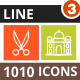 1010 Vector Multicolor B/G Line Icons - GraphicRiver Item for Sale