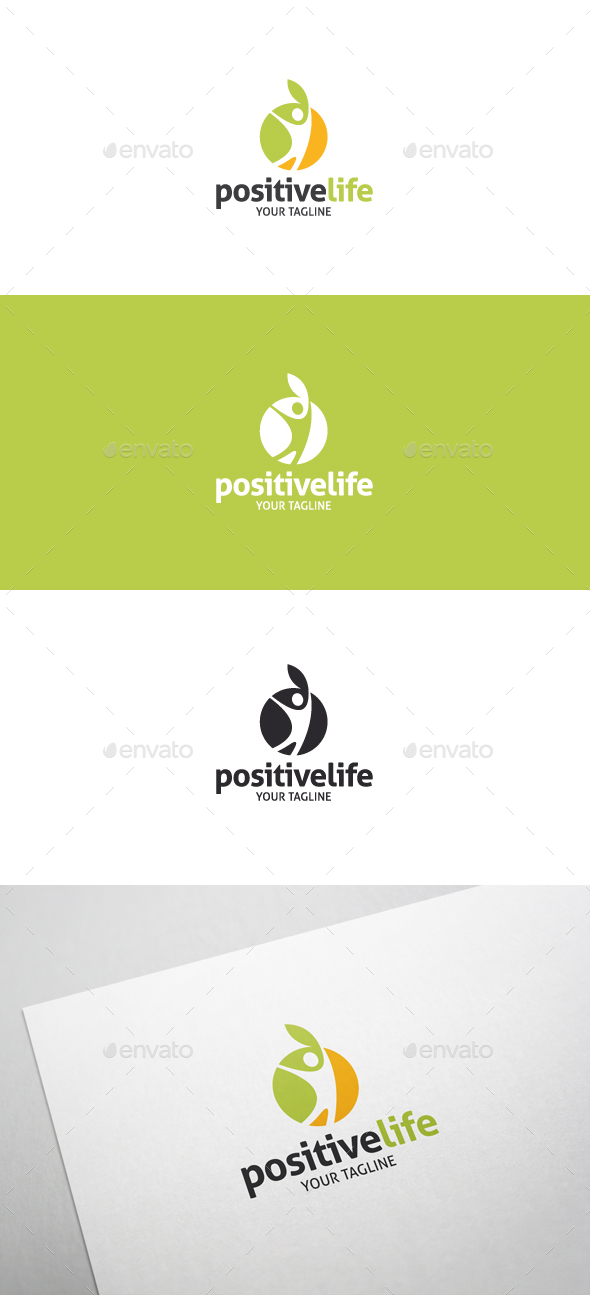 Positive Life - Healthy Life Style Logo - Humans Logo Templates