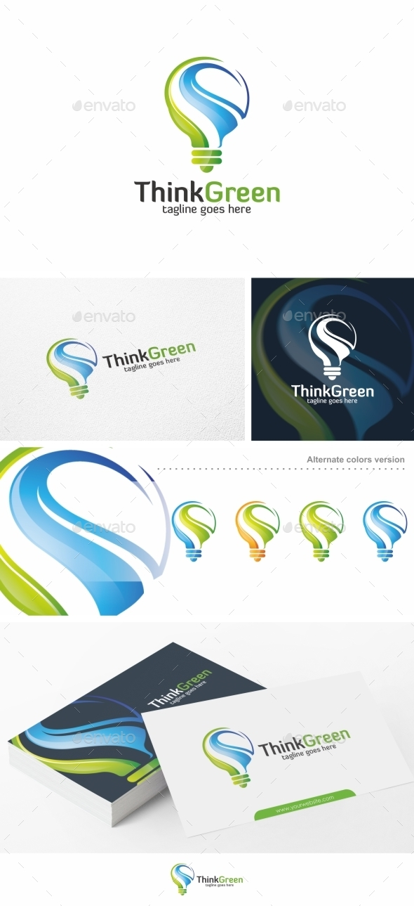Think Green / Ideas - Logo Template - Nature Logo Templates