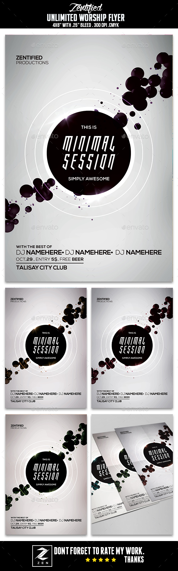 Minimal Session Flyer - Flyers Print Templates