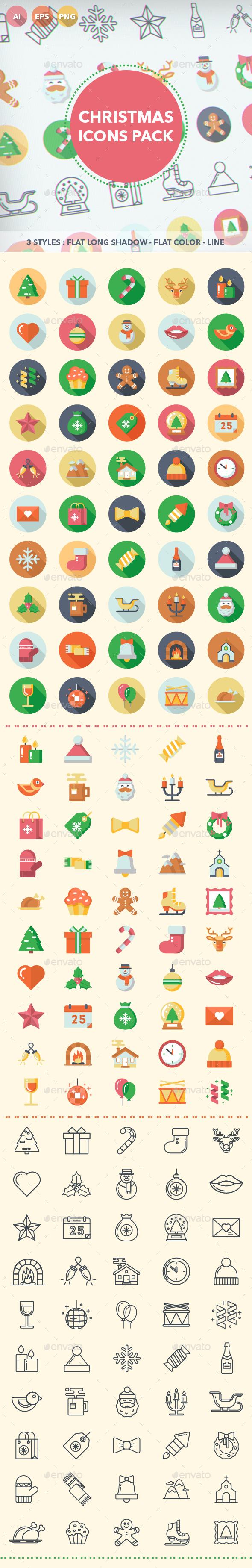 Christmas Icons Pack - Seasonal Icons