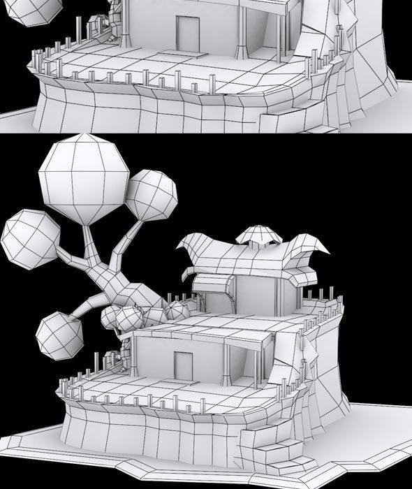 Cartoon House Model - 3DOcean Item for Sale