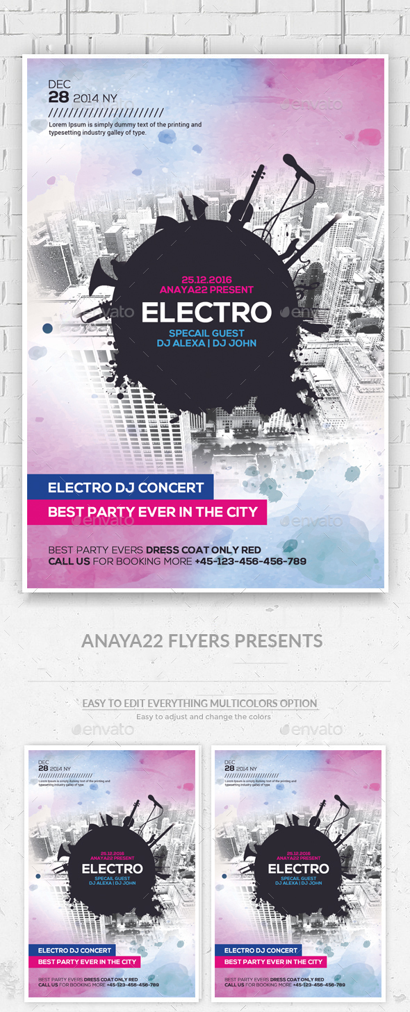Modern Electro City Flyer - Clubs & Parties Events