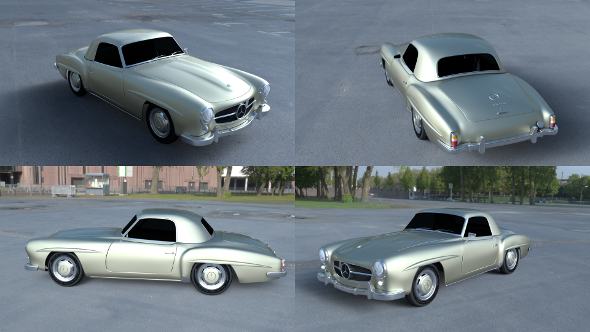 Mercedes 190SL Hard Top - 3DOcean Item for Sale