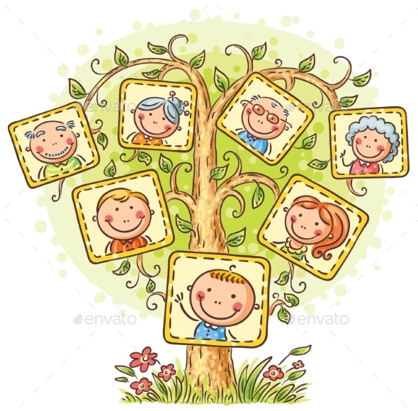 Family Tree In Pictures - People Characters
