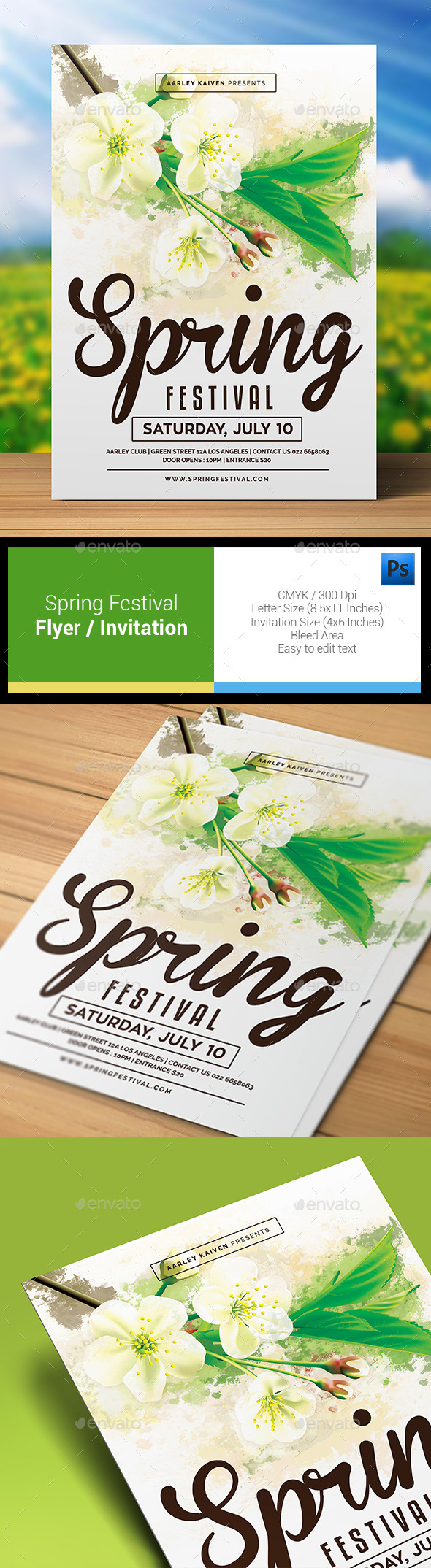 Spring Festival Flyer Invitation