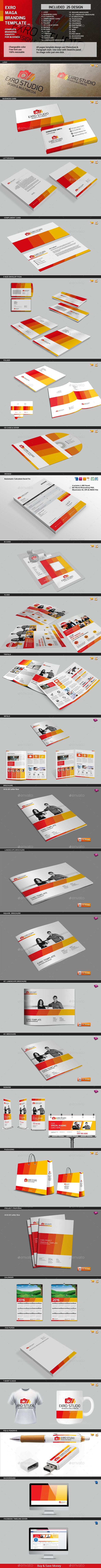 Exro Multipurpose Mega Branding Template - Stationery Print Templates