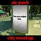Six Pack City Mockups  - GraphicRiver Item for Sale
