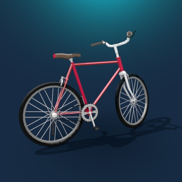 Bicycle Low Poly - 3DOcean Item for Sale